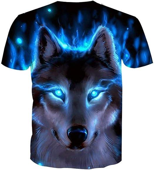 e3cec4f5b Men Original Animal Printed T-Shirt Cool Casual 3D Digital Graphics Tee Tops