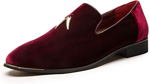 CMM Men's Metallic Penny Slippers Flats Velvet Loafers Slip On Dress Plus Size Shoes Size 6 13