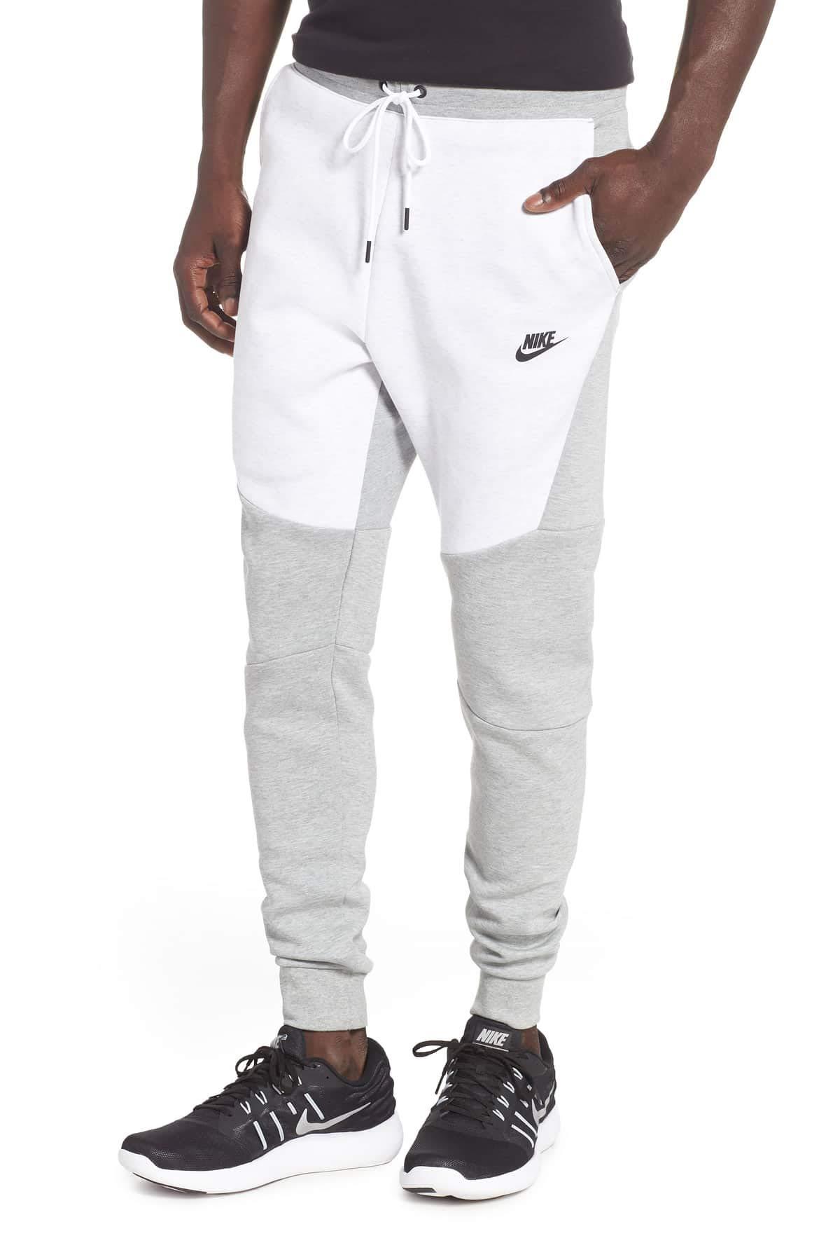 NIKE Mens Sportswear Tech Fleece Jogger Sweatpants (Dk Grey Heather/Birch Heather/Black, Small) by Nike (Image #1)