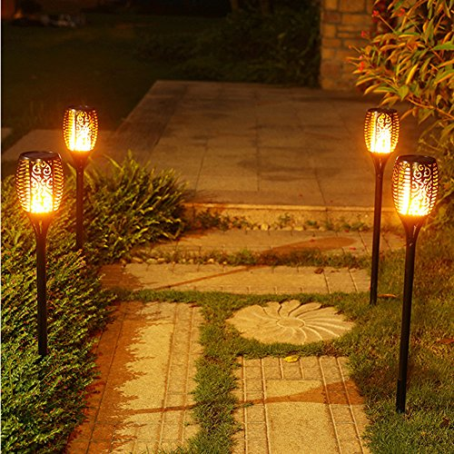 Electric Tiki Torch Pool Lights Solar Led Flickering