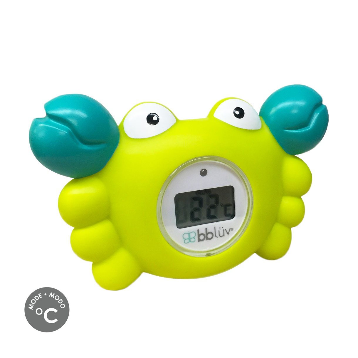 bblüv – Kräb - 3-in-1 Bath Thermometer & Bath Toy (Celsius Mode) B0146-C