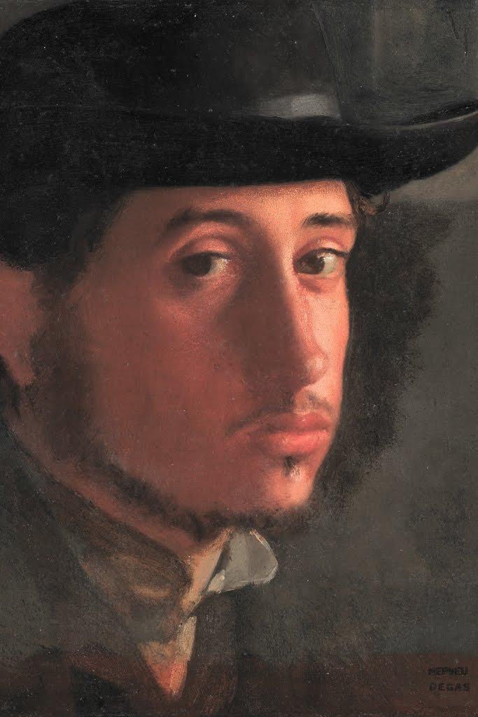 ArtParisienne Self-Portrait by Edgar Degas Wall Decal, 36'' H x 24'' W by ArtParisienne (Image #1)