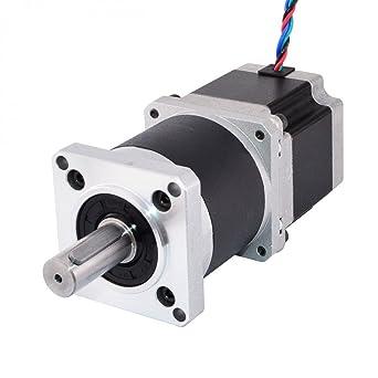 STEPPERONLINE Nema 23 Motor paso a paso L=56 mm Transmisión 10:1 ...