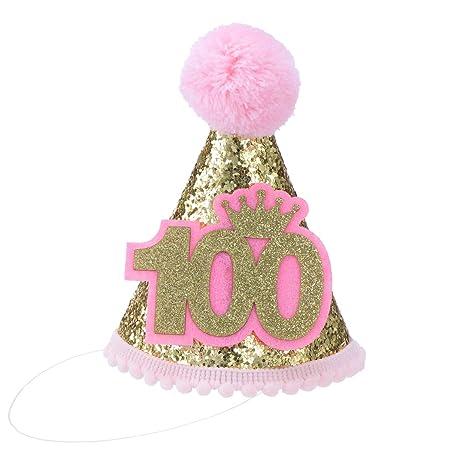 Toyvian sombrero de cumpleaños para bebé sombrero de cono de ...