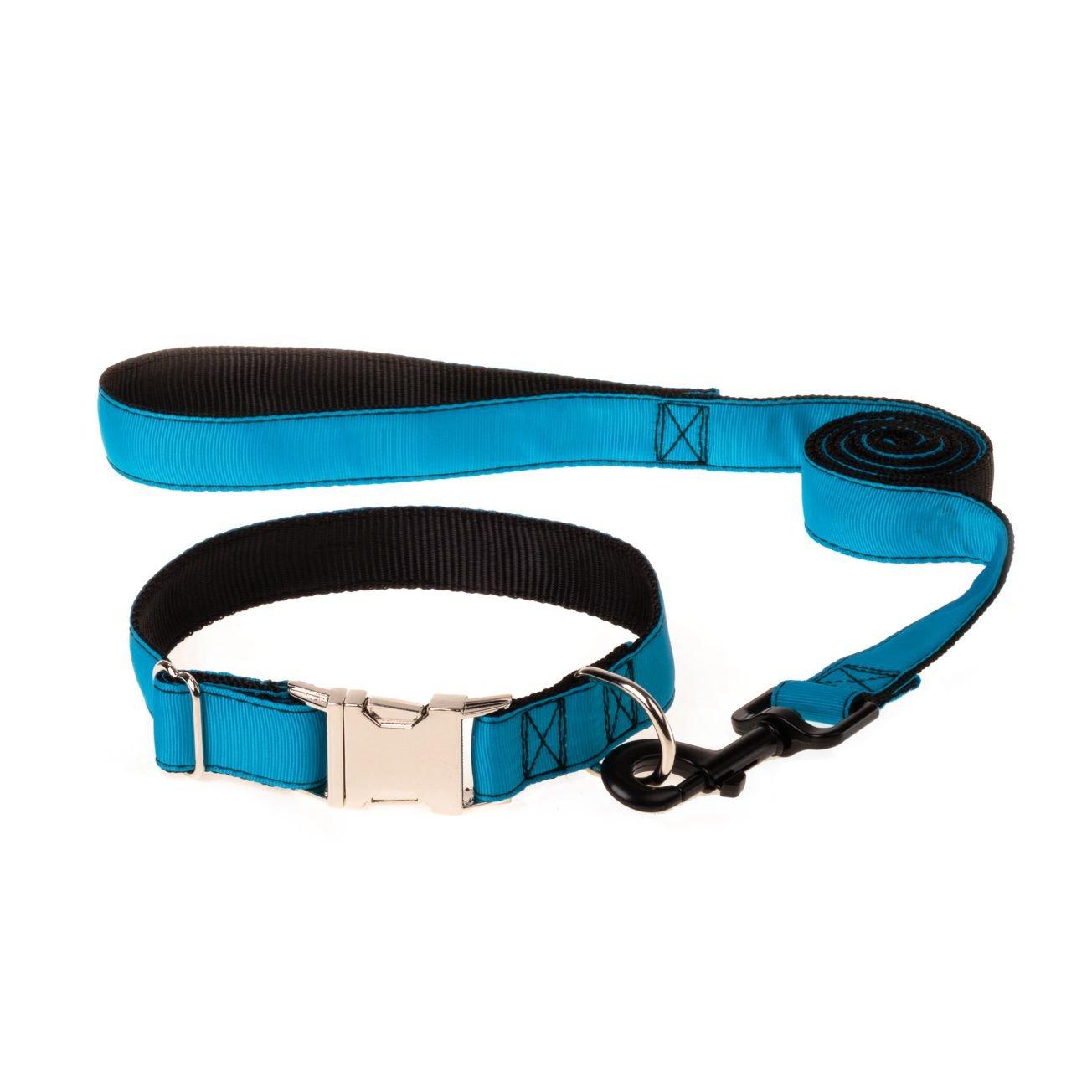 Deepskybluee Small Deepskybluee Small ComSaf Vivid Dog Collar and Leash Set S Deepskybluee