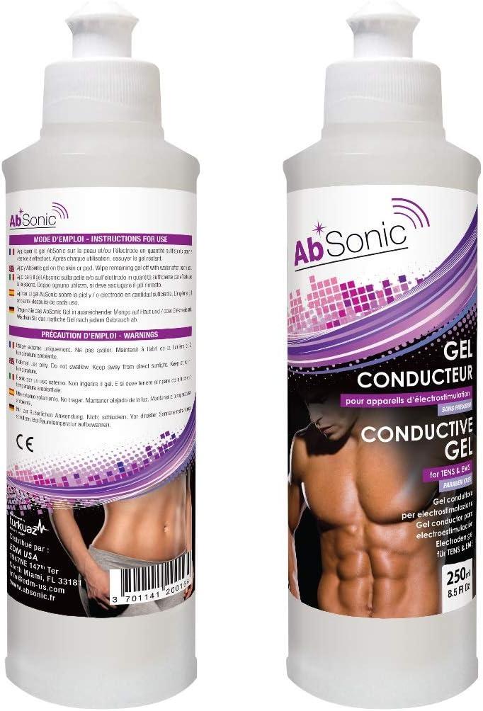 AbSonic - Gel Conductor para Electroestimulación y Electrodos- 2 x 250 ml