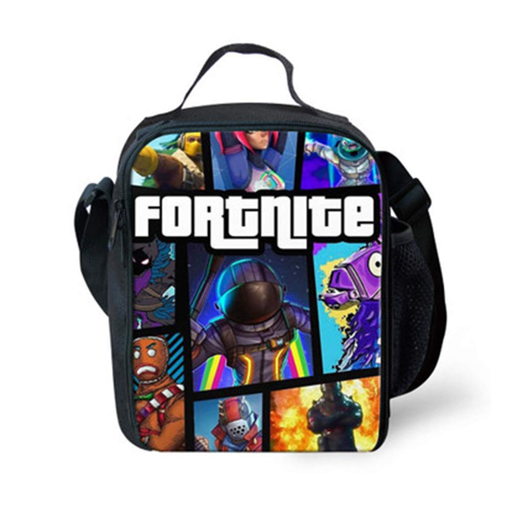 3D Printing Fortnite Cover Lunch Box Waterproof Insulated Lunch Bag Portable Lunchbox for School Travel Office Chelseabyt