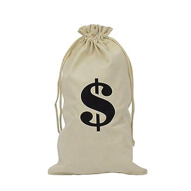 Amazon.com: Novedad Bolsa de $ dinero de tela accesorio para ...
