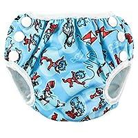 Bumkins Reusable Swim Diaper, Cat in the Hat, Small
