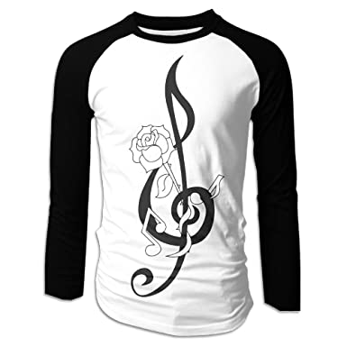 9ad1d89f3519 DAHUACHUANGZHAN 3D Print Music Symbol Mens Long Sleeve Shirt ...