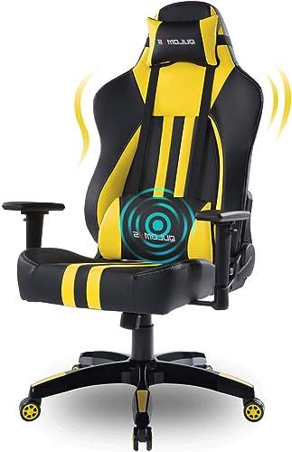 Qulomvs Big and Tall Computer Gaming Chair 400lbs Heavy Duty Massage Video Game Chair