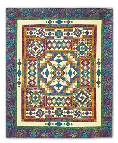 Gemstones Queen Sized Quilt Kit - by Wing and a Prayer - Queen Size - 100% Hand Dyed (Hand Dyed Quilt Fabric)