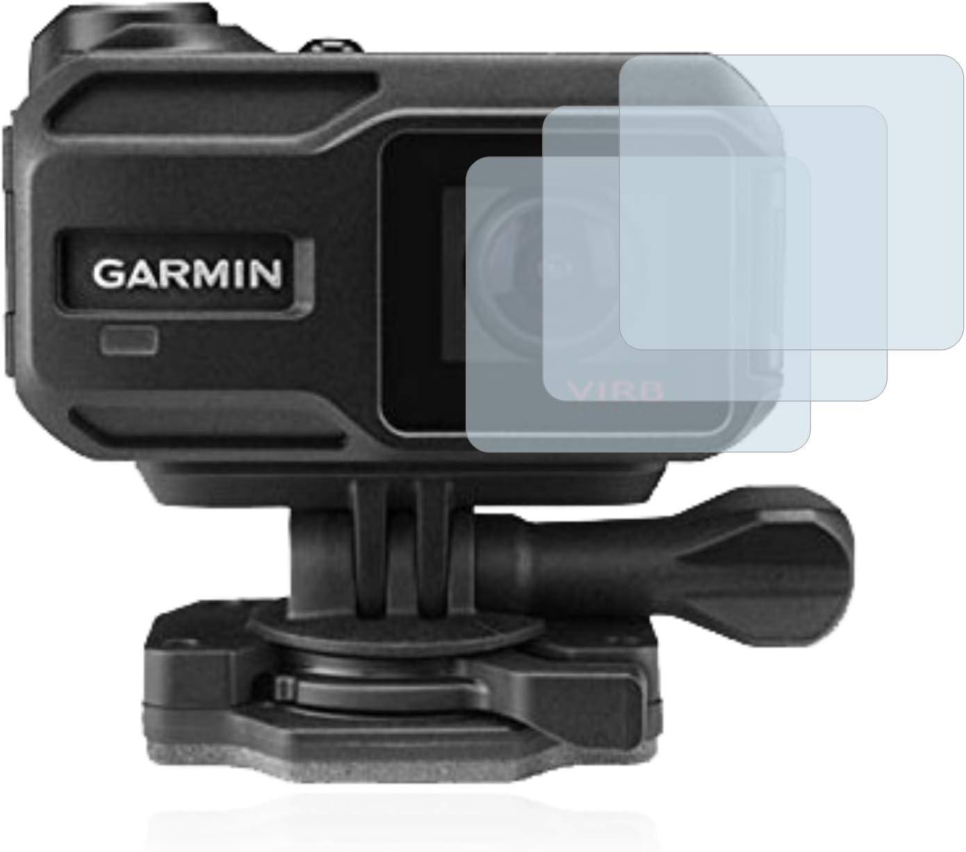 Lentille AirGlass Film Protecteur Vitre 9H Anti-Rayures 3 Pi/èces brotect Protection Ecran Verre Compatible avec Garmin Virb X