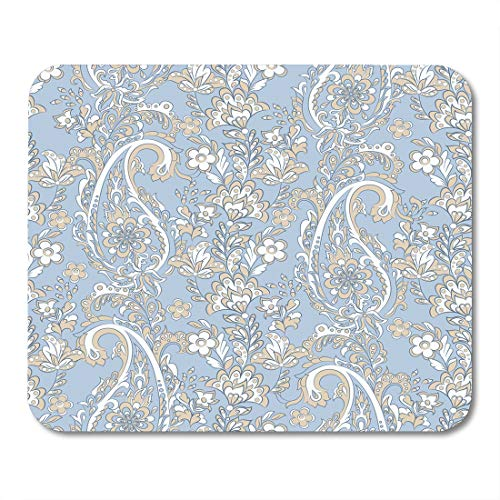 - Nakamela Mouse Pads Scarf Graphic Floral with Paisley Damask Oriental Batik Mouse mats 9.5