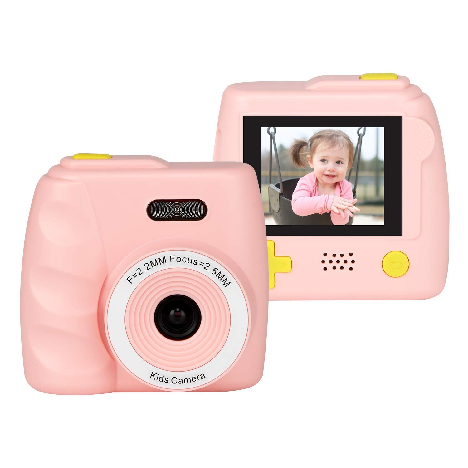 Kids Camera Gifts for 4-8 Year Old boys or girls, Great Gift Mini Child Camcorder for children with Soft Silicone Shell and 5 Mega pixel front lens 2.0 inch HD screen (32G TF card not included) by eyesen (Image #1)