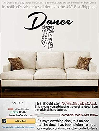 Amazon.com  Yaoni Dance Wall Decal Vinyl Sticker Decals Ballet ... b3bd7a6decad