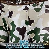 King Style 網ポケット付パンツ 迷彩柄(トランクス下向き仕様) グリーン Lサイズ