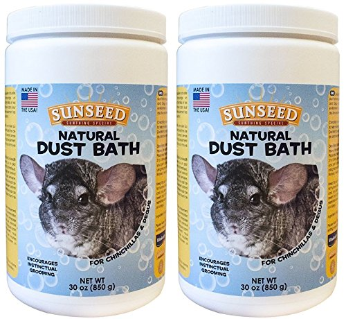 (2 Pack) Sunseed Natural Dust Bath for Chinchillas, 30 Ounces Per (Chinchilla Dust)