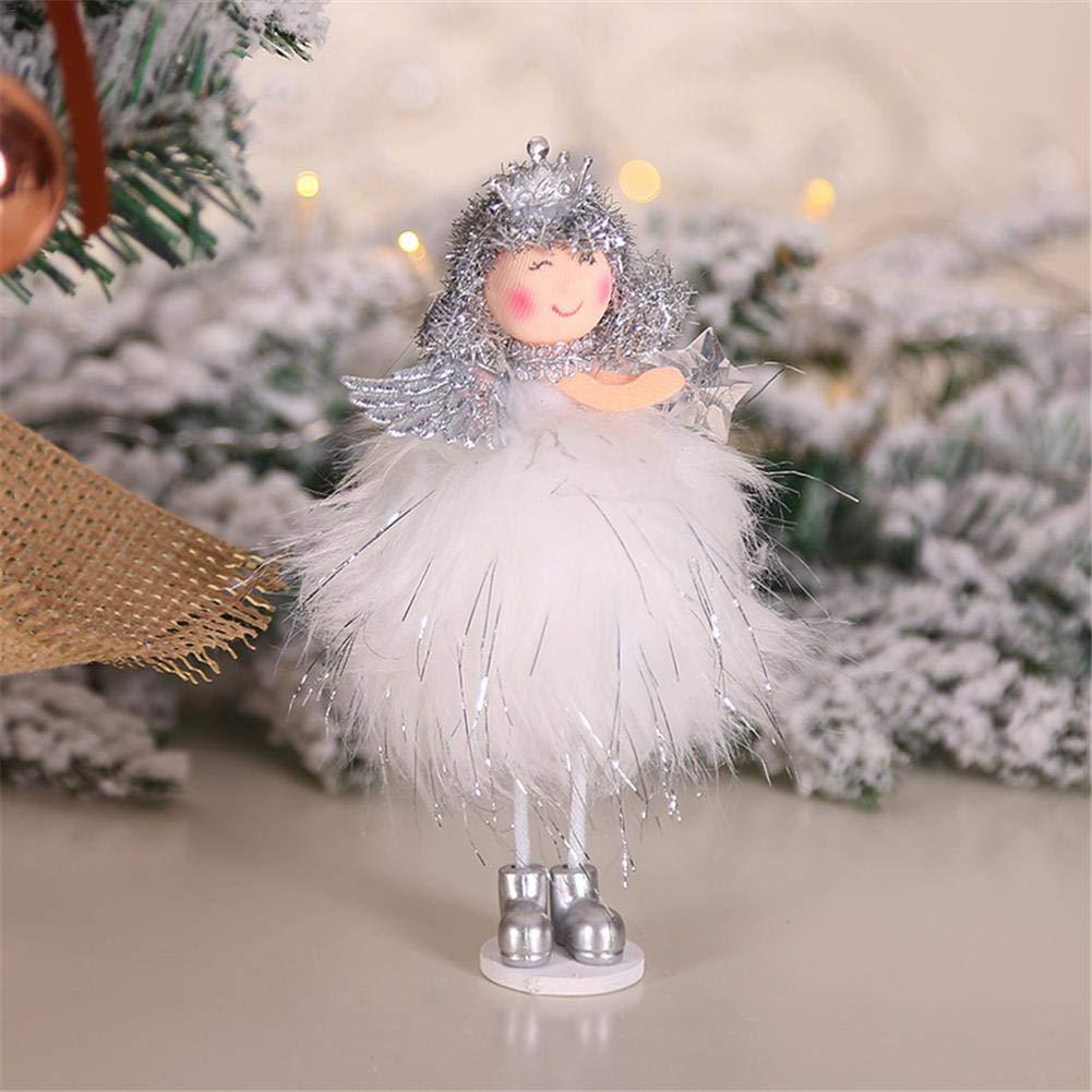 Scrivania Albero di Natale ECC. Angolo Thrivinger Ornamenti Natalizi Tavolo Ciondolo Angelo Fatto A Mano Ideale per Decorazioni per La Casa