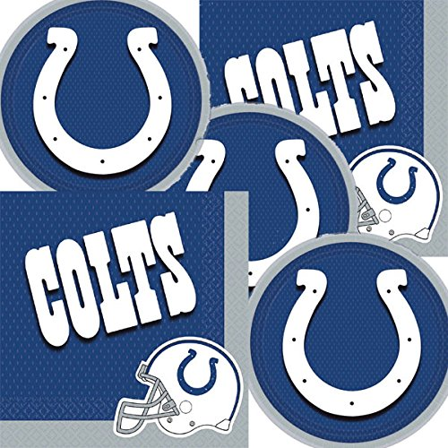 (Indianapolis Colts NFL Football Team Logo Plates And Napkins Serves 16)