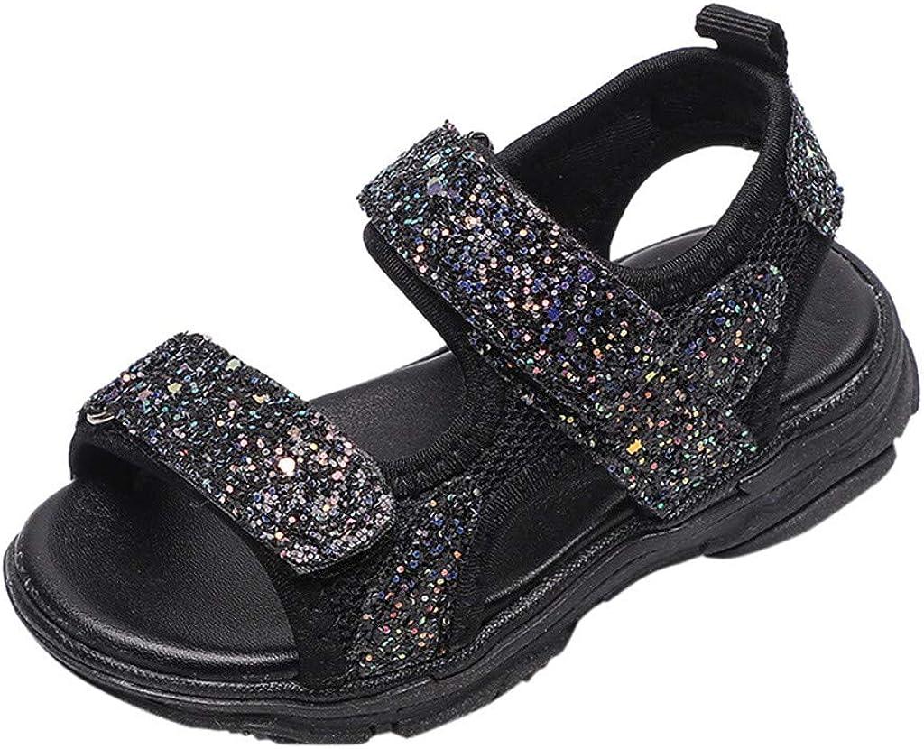 Sneakers Sandals Jifutan Children Girls Boys Mesh Bling Sequins Soft Bottom Non-Slip Sport Beach Cool Shoes