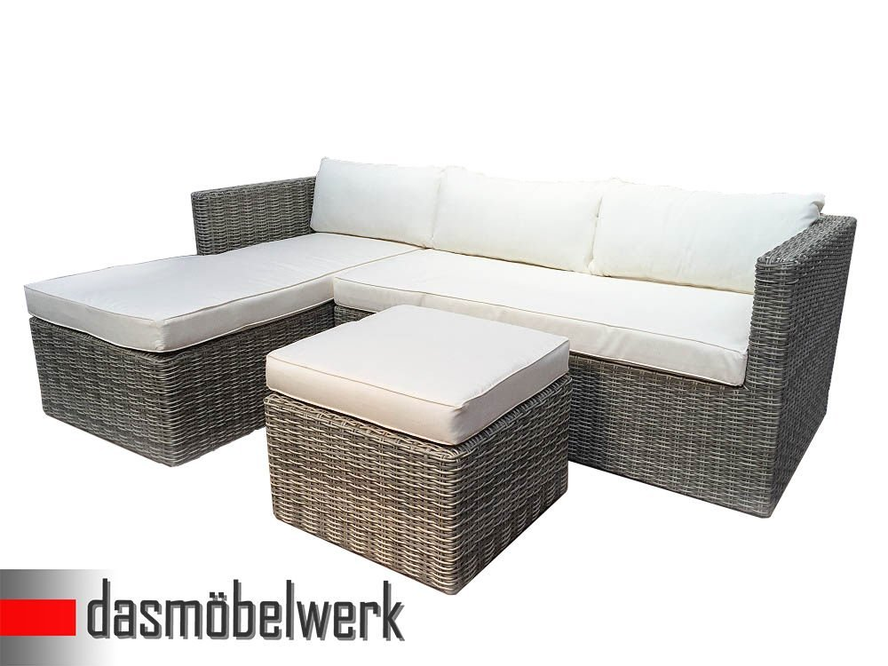 Polyrattan Ecklounge Bari Sitzgarnitur Gartenmöbel Sitzgruppe Lounge ...
