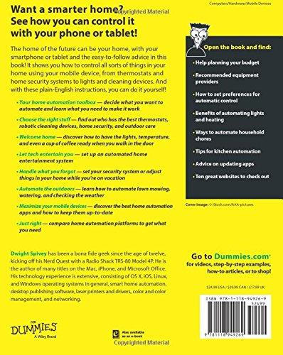Home Automation for Dummies: Amazon.es: Dwight Spivey: Libros en idiomas extranjeros