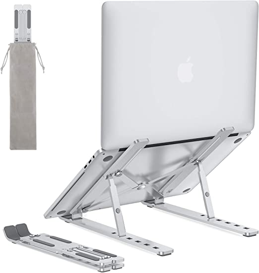 OUSI Portable Laptop Stand,Adjustable Foldable Laptop Holder,Aluminum Ventilated Laptop Notebook Stand,9-Angles for 10-15.6 MacBook Air Pro,Lenovo,Dell,Alienware