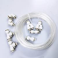 BASE WAVE Aquarium CO2 Tubing 5 Yard(15 feet) & Push to Connect Fittings