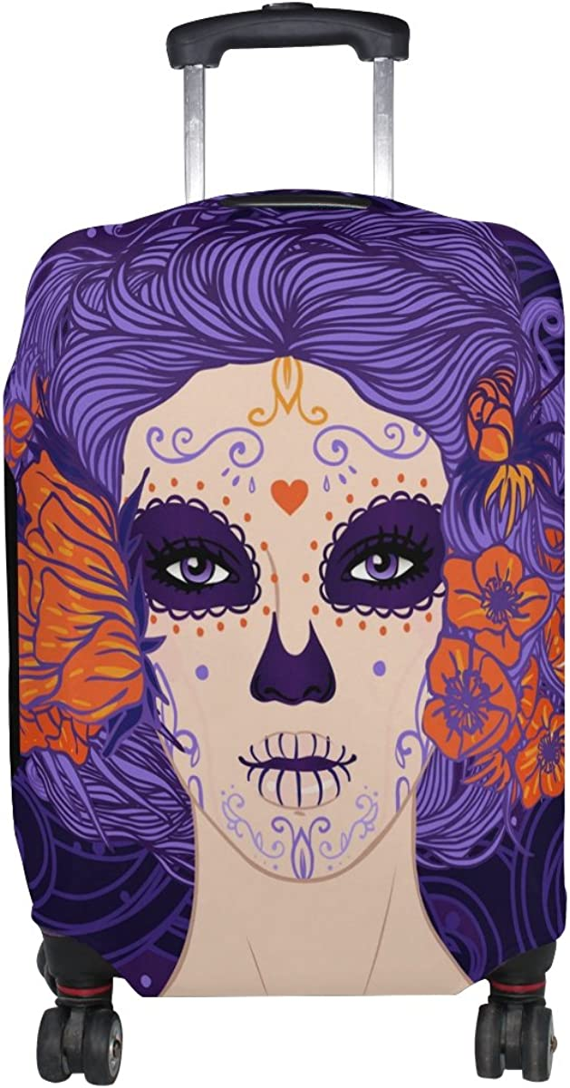 GIOVANIOR Mexican Sugar Skull Girl Luggage Cover Suitcase Protector Carry On Covers