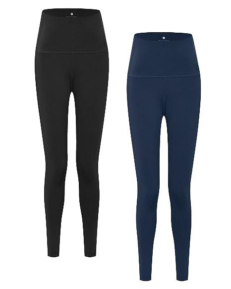 5221f766240ef Lapasa Women's Sport Leggings Yoga Pants Running Tights With Hidden Pocket,  1-2 Pack - L01 (Black&Navy, S / UK 8-10 / Waist: See chart): Amazon.co.uk:  ...