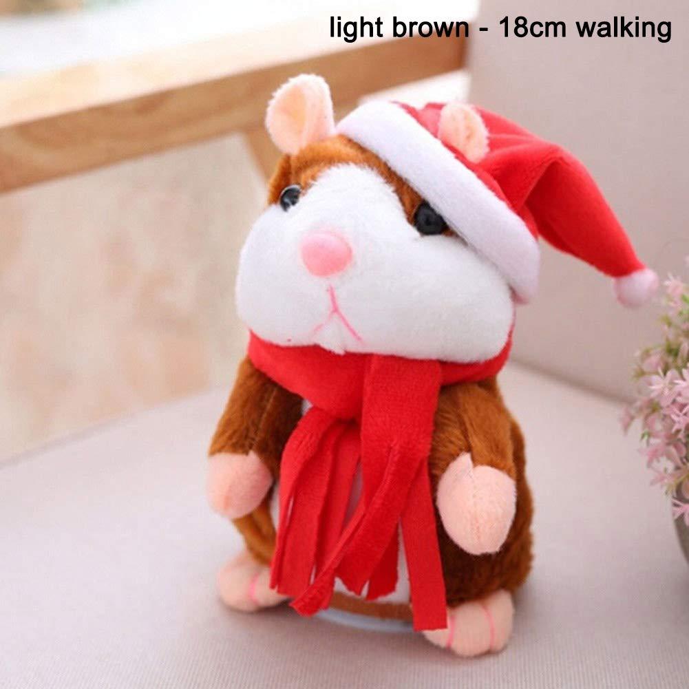 Coomir Cheeky Hamster Hablar El/éctrico Caminar Mascotas Navidad Juguete Hablar Record Hamster Gift