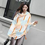 Women's Gift Scarf New Retro Style Silk Scarf Spring Summer Autumn/Winter Girls Leisure Travel Neckerchief Beach Sun Protection Anti-UV Scarf Lady Long Shawl 90 180cm (Color : 06)