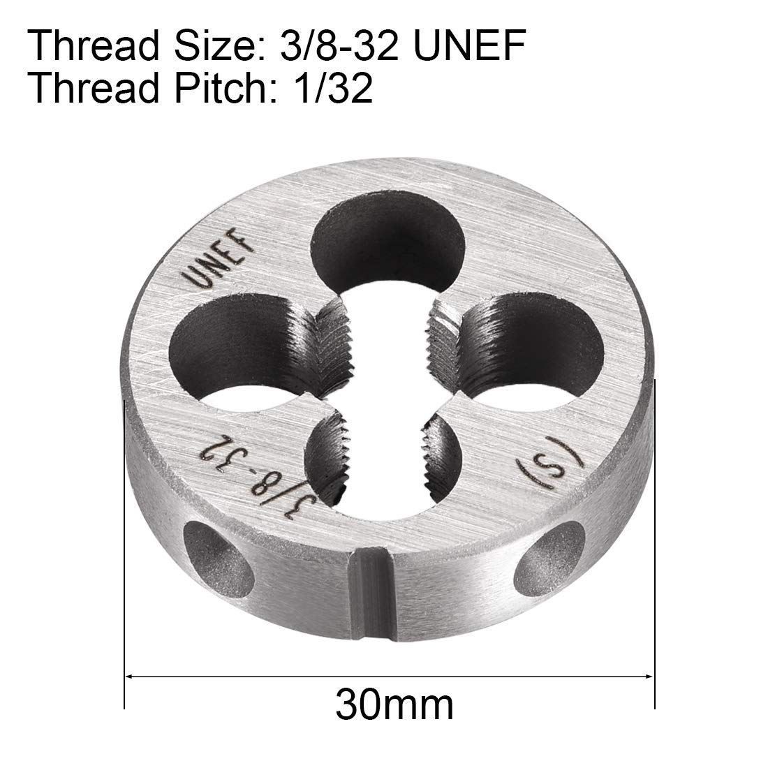 Screw die Tool Tapping die 2 Pieces 3//8 inch-32 UNEF Round die of The Right die Machine HSS high Speed Steel