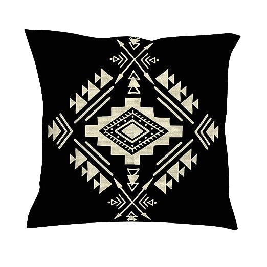 CCMugshop Funda de cojín Azteca, diseño étnico, Flecha, Estampado ...
