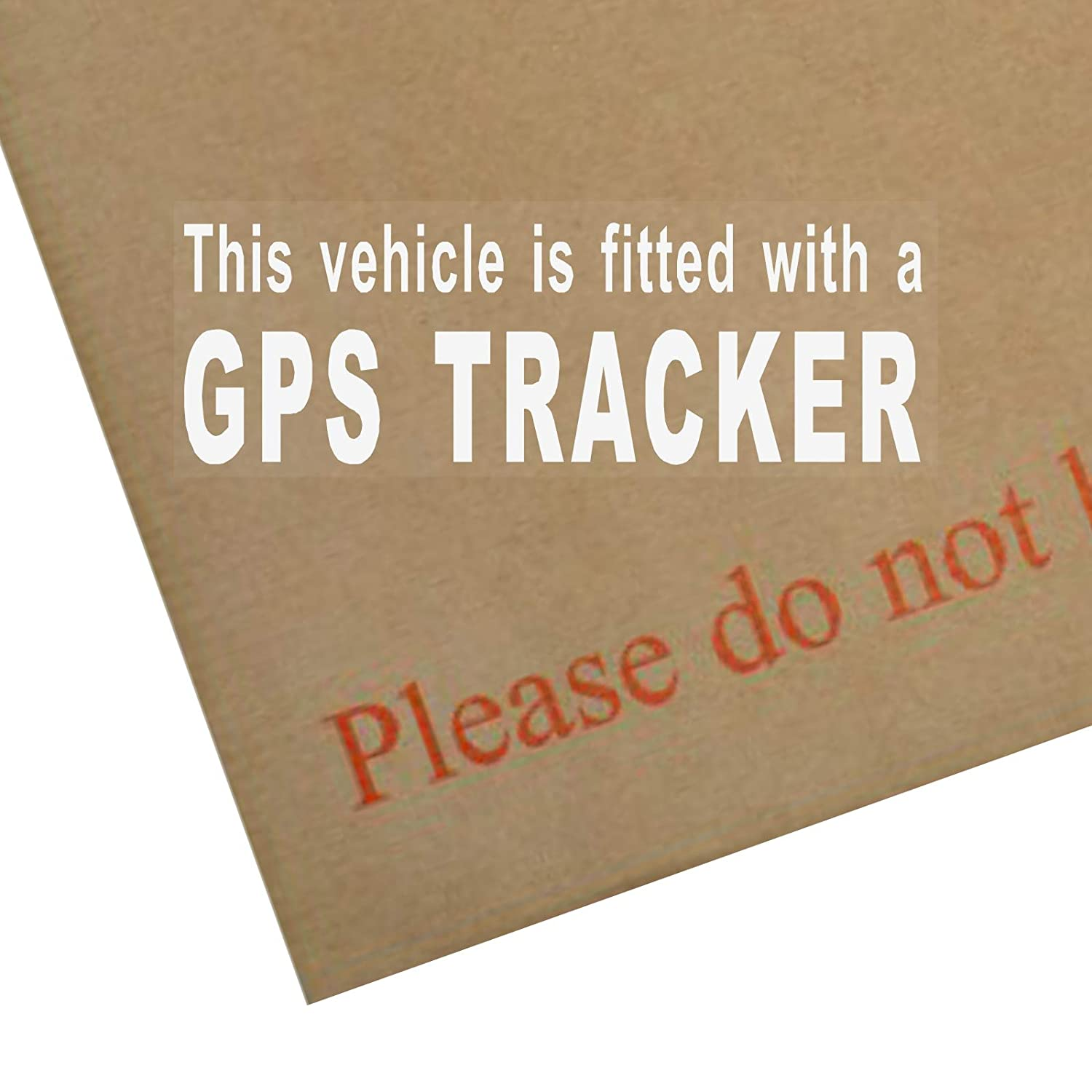 Platinum Place 4 x Fitted with a GPS Tracker Security-Internal WINDOW Stickers-WHITE on CLEAR-Car,Van,Truck,Taxi,Mini Cab,Bus,Coach Alarm Signs,Warning,Notice,Protection,Secure,Protect