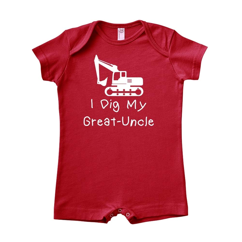 Baby Romper Mashed Clothing I Dig My Great-Uncle