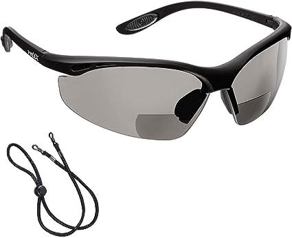 voltX 'CONSTRUCTOR' POLARIZZATA Bifocale Sicurezza occhiali da lettura, Certificati CE EN166f Occhiali per ciclisti (+1.0 diottrie) – Polarized
