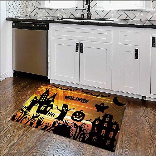 (Indoor/Outdoor Floor Mat ultra high definition halloween Mildew Resistant W17