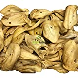Nature Gnaws Large Whole Cow Ears (50 Count) Bulk Box - 100% Natural Grass-Fed Beef Dog Chews