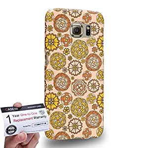 Case88 [Samsung Galaxy S6] 3D impresa Carcasa/Funda dura para & Tarjeta de garantía - Art Carpet And Tapestry Beige