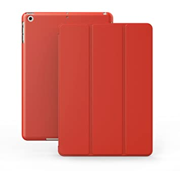 KHOMO Funda iPad Pro - Carcasa Roja Protectora Ultra Delgada y Ligéra con Smart Cover y Soporte para Nuevo Apple iPad Pro (12.9