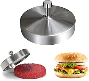 Stainless Steel Burger Press Hamburger Maker Non Stick Patty Mold Ideal for BBQ & Perfect Patties.Easy to Operate and Clean,Without Any Worries