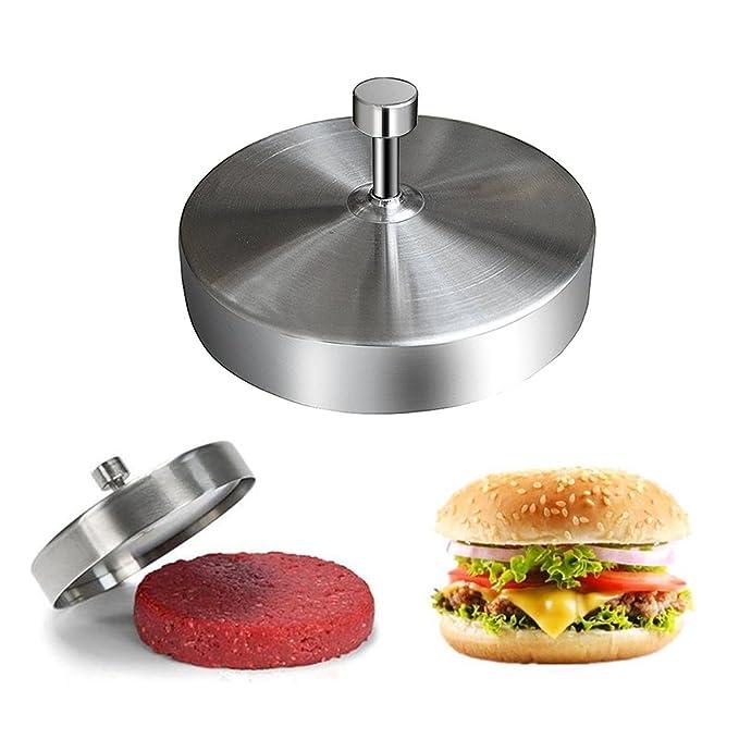 Amazon.com: Acero inoxidable prensa para hamburguesas ...