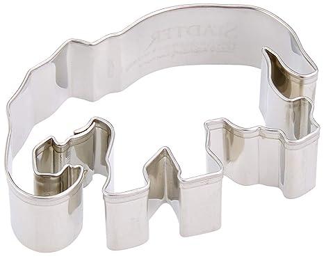 Staedter Molde para Galletas de Elefante, Plata, 7 cm