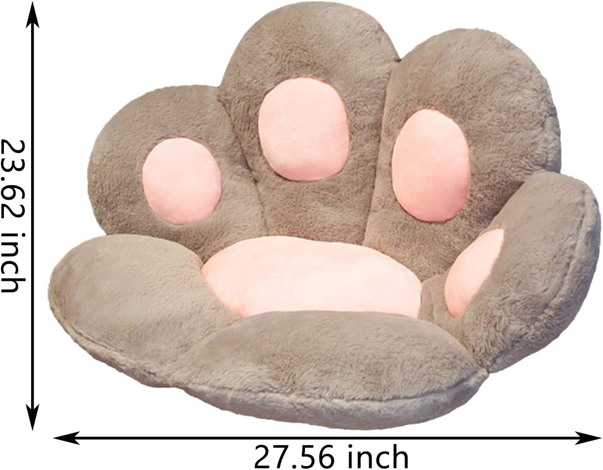 Bartholomew Cute Cat Paw Seat Cushion PP Cotton filled Cat Paw Cushion Cat Paw Plush Pillow Decoration Chair Cushion for Office//Car//Home Ground Comfortable Cat Paw Mat 6052cm Lazy Sofa