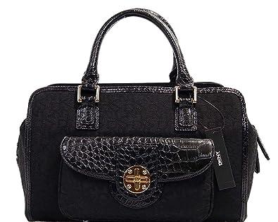 DKNY Women s Logo Turn Lock Satchel Doctor Bag Handbag  Handbags ... 34a588b9a6140