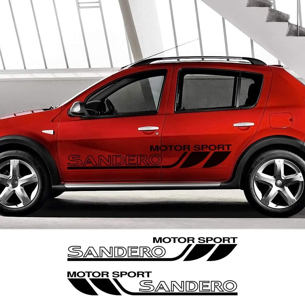 Dmwfaker F/ür Renault Dacia Sandero Racing Sportwagen T/ür Seitenrock Streifen Aufkleber Grafik Vinyl Auto Body Decor Film Aufkleber