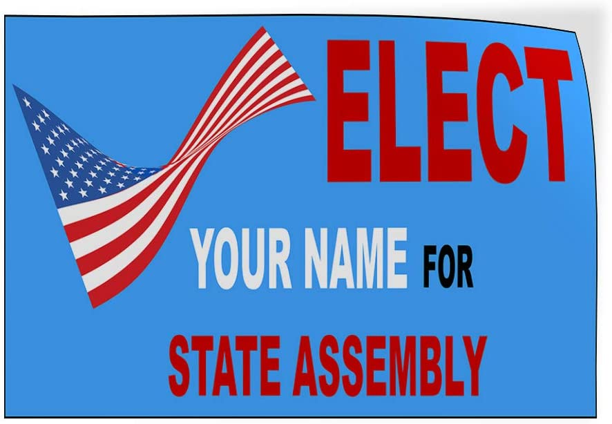 Custom Door Decals Vinyl Stickers Multiple Sizes Elect Name for Position E Political Elect Signs Outdoor Luggage /& Bumper Stickers for Cars Red 54X36Inches Set of 5