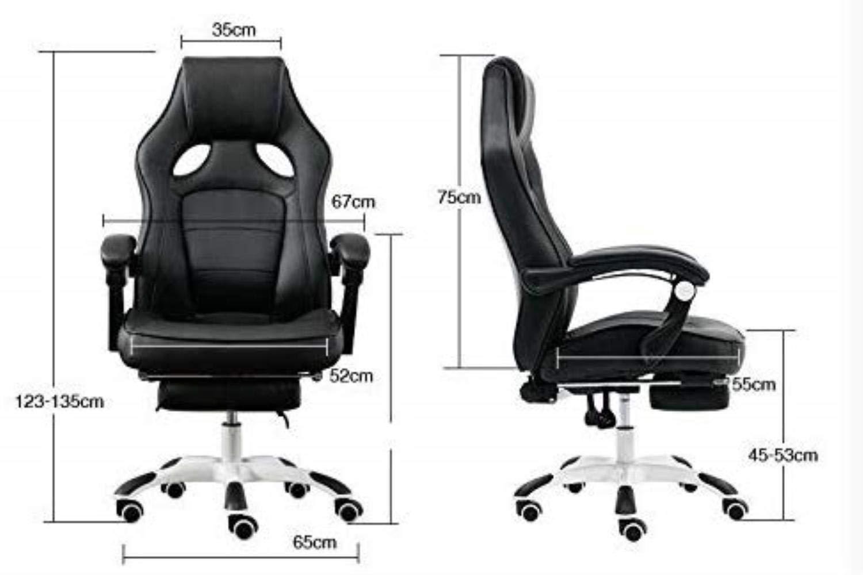 Kontorsstol stabil ergonomisk datorstol hem midja hals hållbar (färg: Mörkbrun) Brun